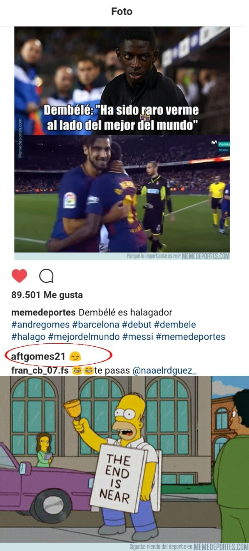 998503 - André Gomes responde a Memedeportes en Instagram