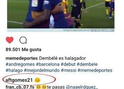 Enlace a André Gomes responde a Memedeportes en Instagram