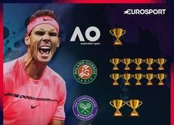Enlace a Todos los títulos del señor Rafa Nadal. Vía Eurosport