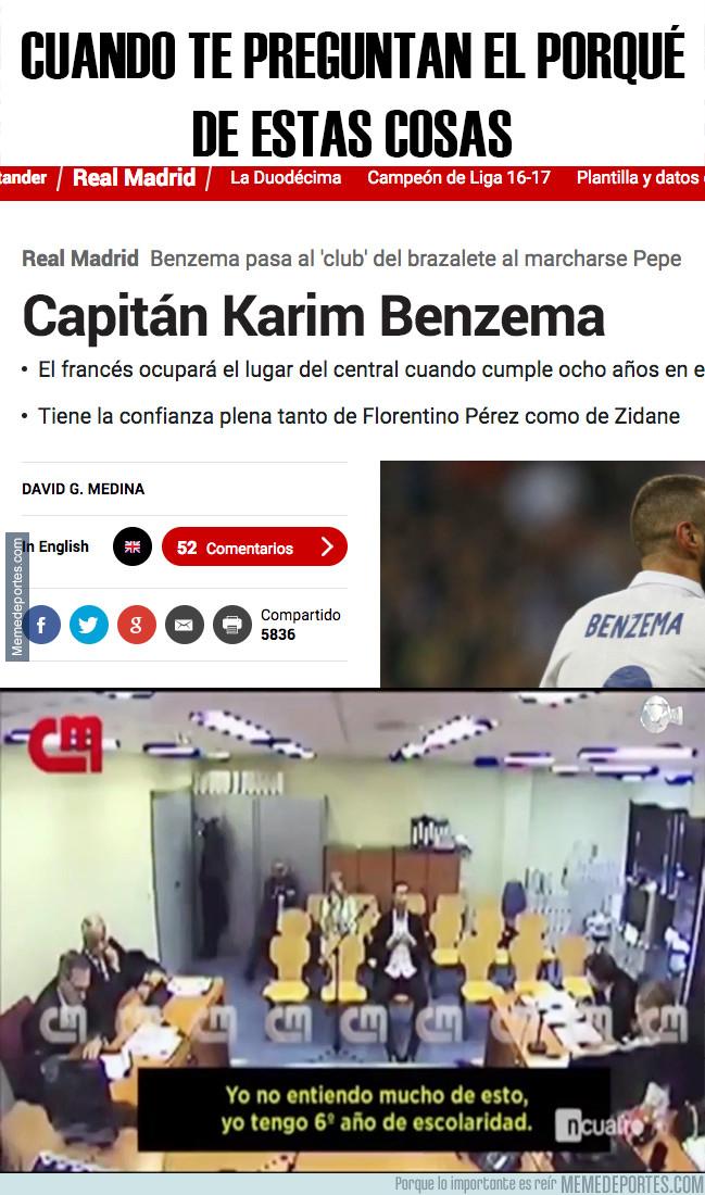 998683 - Cuando te preguntan por qué Benzema sigue jugando, y además será capitán