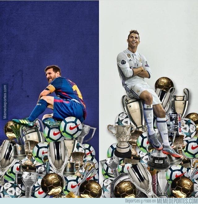 999176 - Messi y Cristiano un museo de trofeos y goles