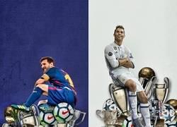 Enlace a Messi y Cristiano un museo de trofeos y goles