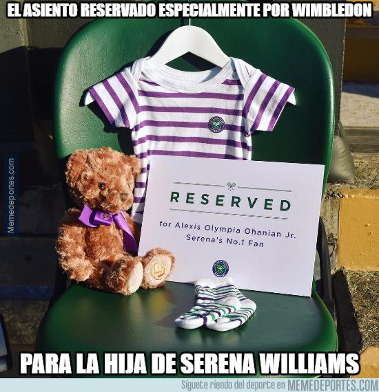 999276 - Lindo detalle de los organizadores con la hija de Serena Williams