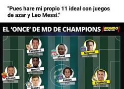 Enlace a Surrealista. Mundo Deportivo saca su propio 11 ideal para incluir a Messi en él