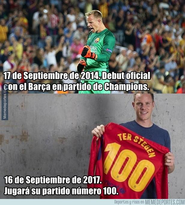 999314 - Ter Stegen llega al centenario de partidos con el Barça