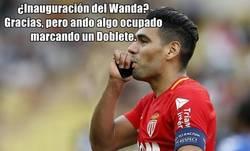 Enlace a Falcao fue invitado al Wanda mientras jugaba con el Mónaco