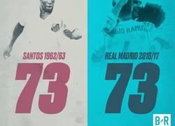 Enlace a El Real Madrid iguala el récord del Santos de Pelé