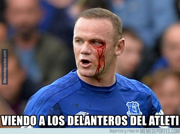 1001591 - Rooney viendo al Atlético de Madrid