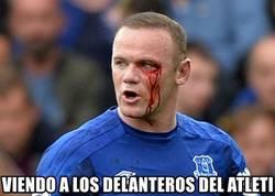 Enlace a Rooney viendo al Atlético de Madrid