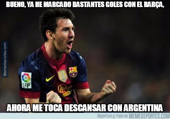 1001742 - Ahora descansa el Messi culé y actúa el Messi argentino... o no