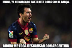 Enlace a Ahora descansa el Messi culé y actúa el Messi argentino... o no