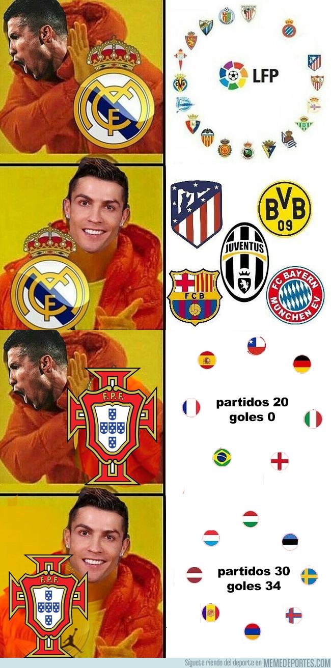 1001877 - Las dos caras de Cristiano, también con Portugal