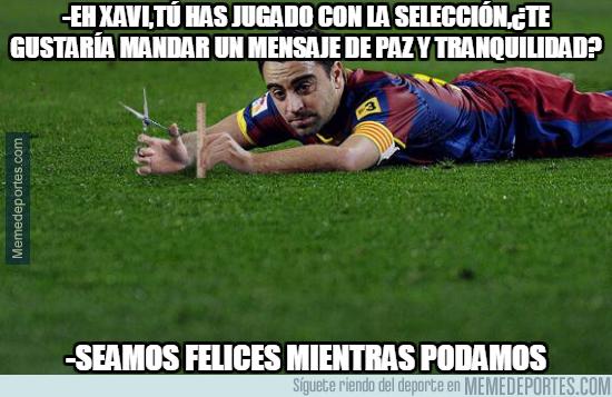 1001968 - Mensaje de Xavi mandando tranquilidad en la selección española...y en España