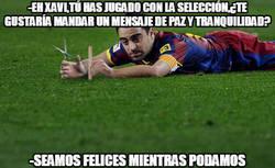 Enlace a Mensaje de Xavi mandando tranquilidad en la selección española...y en España