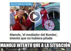 Enlace a Manolo, el del bombo pacificador