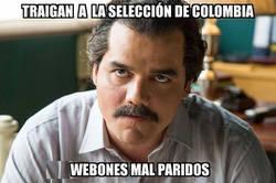 Enlace a Escobar enfadado con Colombia