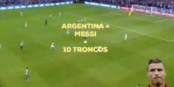 Enlace a El vídeo que demuestra que Argentina es Messi + 10 troncos