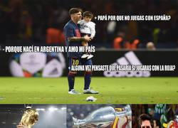 Enlace a Messi se equivocó de selección