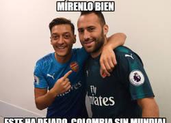 Enlace a Özil trolea a los colombianos