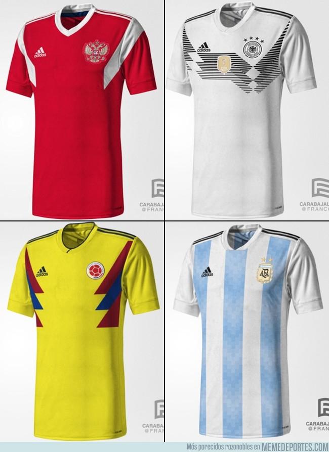 1002704 - Se filtran más supuestas camisetas de Adidas de algunas selecciones para 2018
