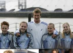 Enlace a Una vieja foto de Beckham con el capitán de la selección inglesa