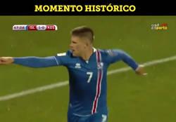 Enlace a Narración del gol que permitirá a Islandia ir al mundial de Rusia 2018