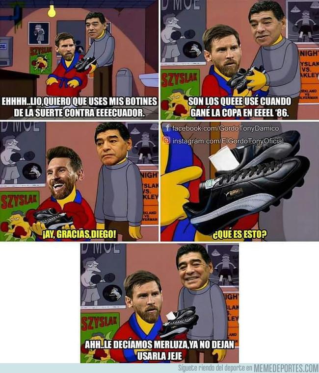 1002822 - El Diego y una pequeña visita a Leo antes de enfrentar a Ecuador