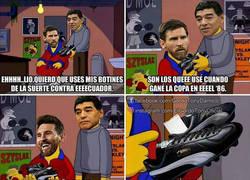 Enlace a El Diego y una pequeña visita a Leo antes de enfrentar a Ecuador