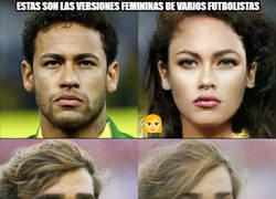 Enlace a Las versiones femeninas de varios futbolistas ¿Con cuál te quedas tú?