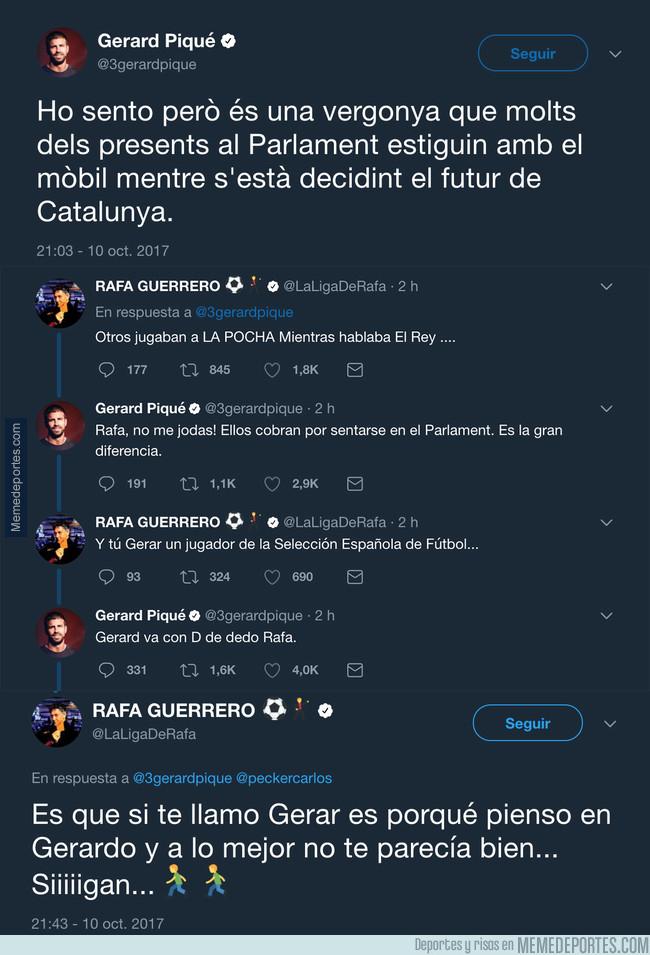 1002875 - Rafa Guerrero se enzarza en una pelea tuitera con Gerard Piqué