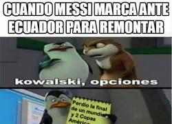 Enlace a Messi ayudando a la selección