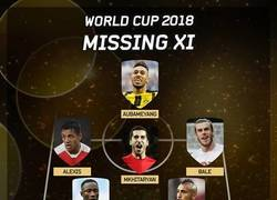 Enlace a El Mejor XI que se pierde el Mundial de Rusia 2018