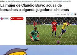 Enlace a La mujer de Bravo acusa de borrachos a algunos jugadores de la selección chilena