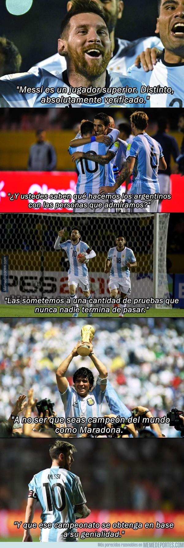 1003344 - Reflexión de Marcelo Bielsa sobre Messi y los argentinos