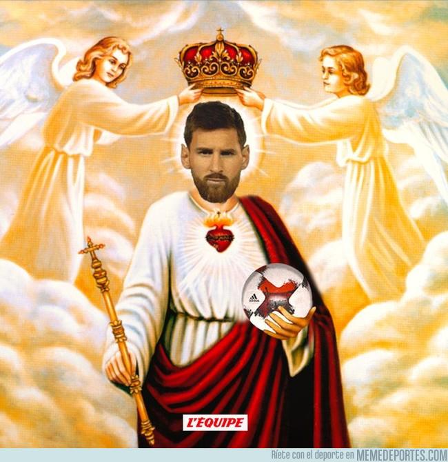 1003436 - L'Equipe sube esta imagen de Messi, ellos lo tienen claro