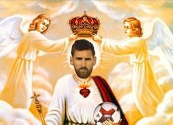 Enlace a L'Equipe sube esta imagen de Messi, ellos lo tienen claro