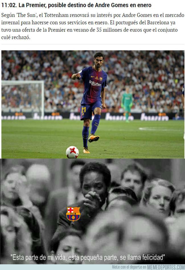 1003559 - Andre Gomes podría salir del Barça en enero