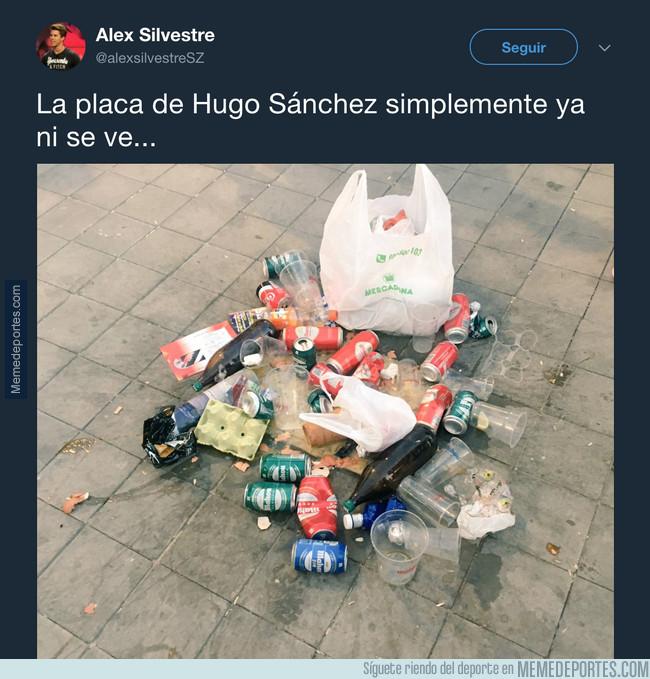 1003783 - La placa de Hugo Sánchez en el Wanda Metropolitano alcanza cotas de asco inimaginables