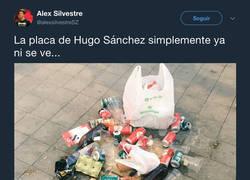 Enlace a La placa de Hugo Sánchez en el Wanda Metropolitano alcanza cotas de asco inimaginables
