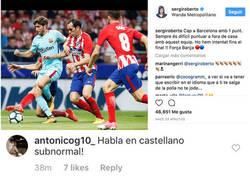 Enlace a Insultan a Sergi Roberto por escribir en catalán en su Instagram y responde muy elegantemente