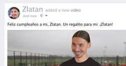 Enlace a Así se ve el muro de Face de Zlatan en su cumpleaños
