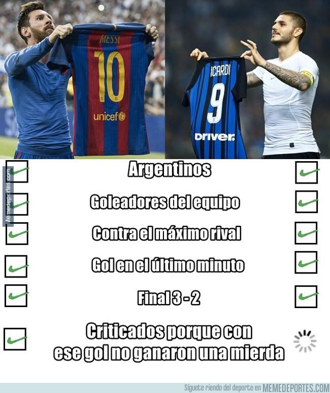 1004020 - Las diferencias entre las celebraciones de Messi e Icardi que solo un buen futbolero sabe apreciar