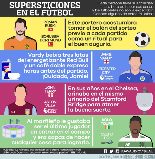 1004587 - Supersticiones en el fútbol, vía @JayAudiovisual