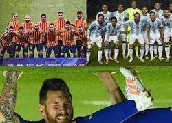 Enlace a Descripción gráfica de Messi en club y selección
