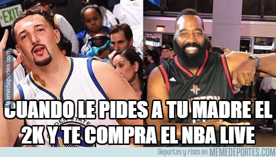 1004701 - Klay Thompson y James Harden versión NBA Live