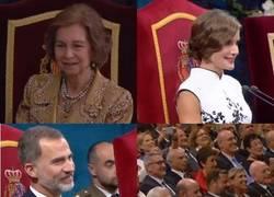 Enlace a Reacciones del auditorio tras la haka de los All-Blacks en la entrega del Príncipe de Asturias