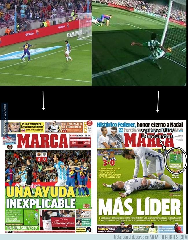 1004919 - Así trata de diferente Marca a Barça y Madrid ante un mismo robo