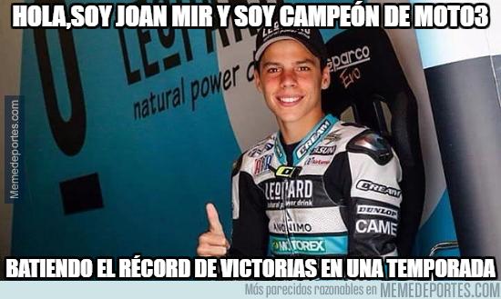 1005051 - Joan Mir, nuevo campeón de Moto3 al ganar en Australia