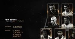 Enlace a Éste es el el Once FIFPro de la gala The Best