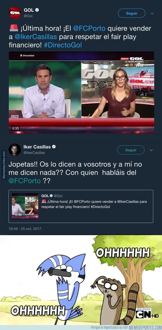 1005411 - El ZASCA tremendo de don Iker Casillas a Gol Televisión tras dar esta noticia sobre él